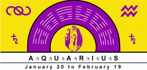 Aquarius Symbol with planetary rulership of Saturn