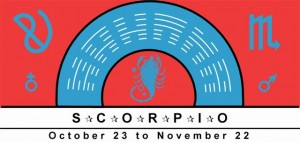Scorpio Symbol with planetary rulership of Mars