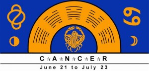 Cancer Symbol with rulership of Moon